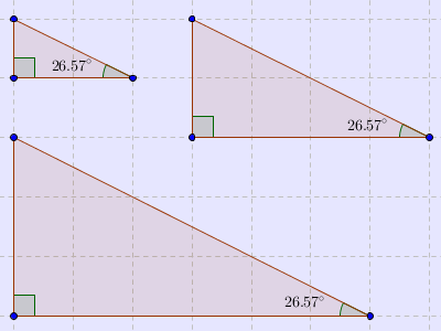 Three Triangles - Equal Angles
